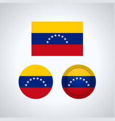 venezuelan trio flags vector image
