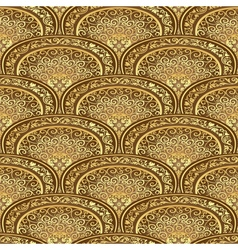 Vintage seamless pattern brown-gold vector