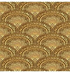 Vintage seamless pattern brown-gold vector image