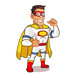 White Superhero vector