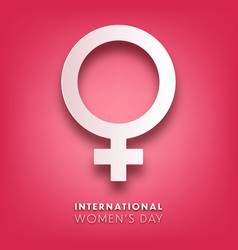 Womens day background with text march 8 vector