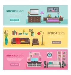 Flat Furniture Banner Set vector image vector image