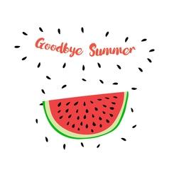 GoodbyeSummer vector image
