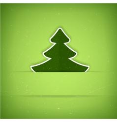 Green Christmas tree card vector image vector image