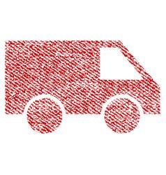 van fabric textured icon vector image vector image