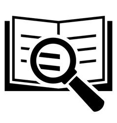 Book search icon vector image vector image