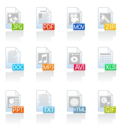 file format icons vector image
