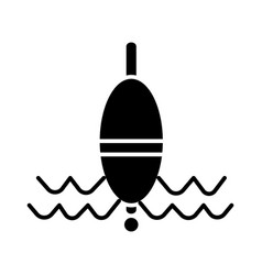 float fishing icon black vector image