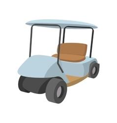 Golf car cartoon icon vector