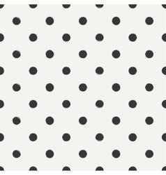 Hand drawn geometric seamless ink polka dot vector image