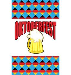 Mug of beer for Oktoberfest Character Beer vector image vector image
