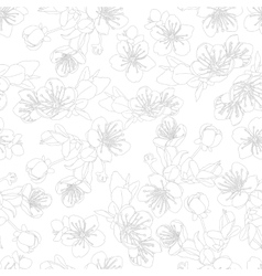 seamless pattern with flowers of sakura vector image vector image