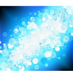 snow flake background vector image vector image
