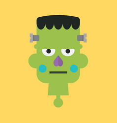 head of green zombie vector image