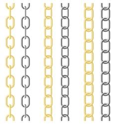 metallic chain vector image