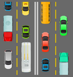 city traffic on top view flat concept vector image