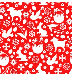 easter pattern red vector image vector image