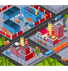 Factory Infrastructure Isometric vector image
