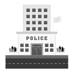 grayscale police station icon image vector image vector image