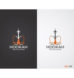 Hookah relax labels badges and design elements vector image