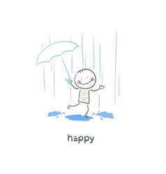 Jumping in puddles vector image vector image