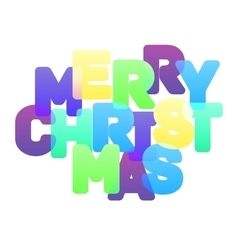 Merry Christmas multicolor lettering vector image vector image