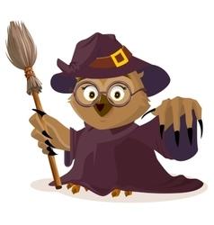 Owl teacher in Halloween costume vector image vector image