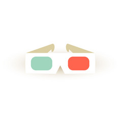 paper 3d glasses icon stereo sinema glasses vector image