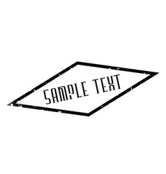 Sample text rubber stamp vector