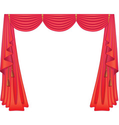 scarlet curtains vector image