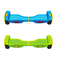 segway wheels selfbalance electric hover board vector image vector image