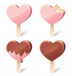 yummy hearts vector image vector image