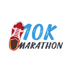 10k marathon run event with sneakers vector