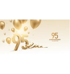 95th anniversary celebration background vector