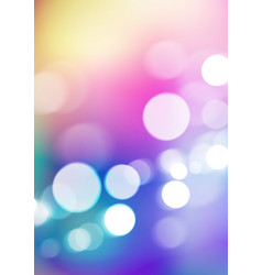 Abstract bokeh lights on blurred colorful vector