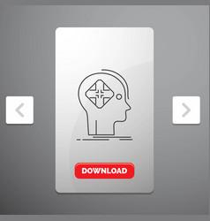 Advanced cyber future human mind line icon in vector