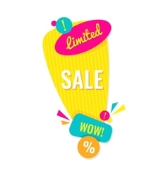 Advertising banner Limited sale wow vector