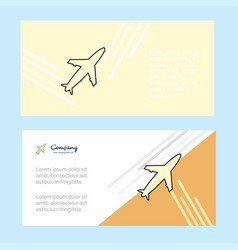 aeroplane abstract corporate business banner vector image