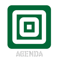 Agenda conceptual graphic icon vector