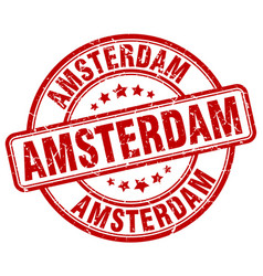 amsterdam stamp vector image