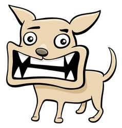 angry puppy cartoon vector image
