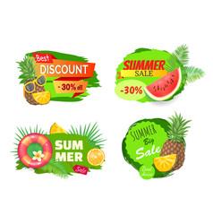 Best discount summer sales vector