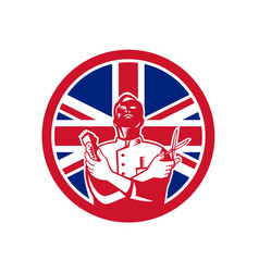british barber union jack flag icon vector image