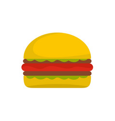 Burger icon flat style vector