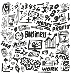 Business - doodles set vector image