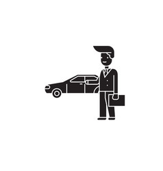 car offer black concept icon car offer vector image