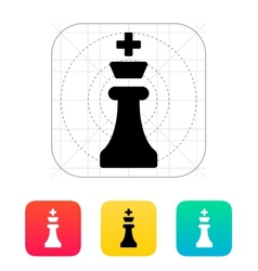 Chess King icon vector