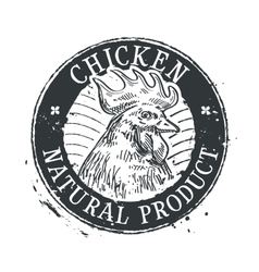 chicken logo design template rooster or vector image