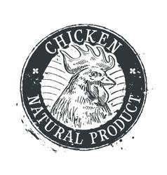 Chicken logo design template rooster vector