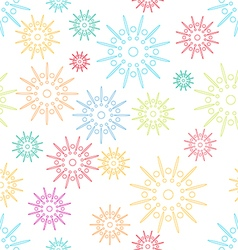Colorful abstract seamless pattern with flowers st vector image